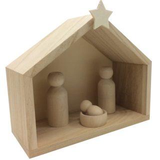 J'ai testé pour vous le Kit Crèche en bois à personnalisé