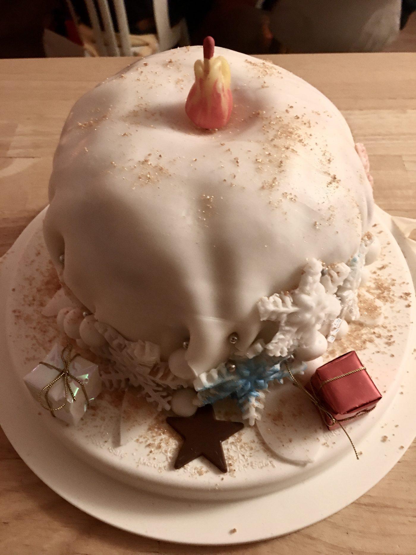 Gâteau flocons de neige de Noël