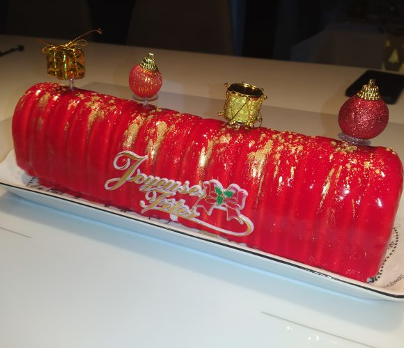 Buche fruits rouge / vanille