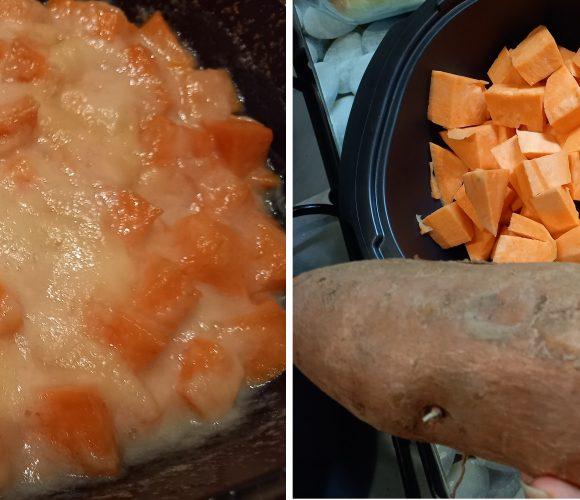Patates douces Crème de coco …. Rapide à réaliser  🥥🥥