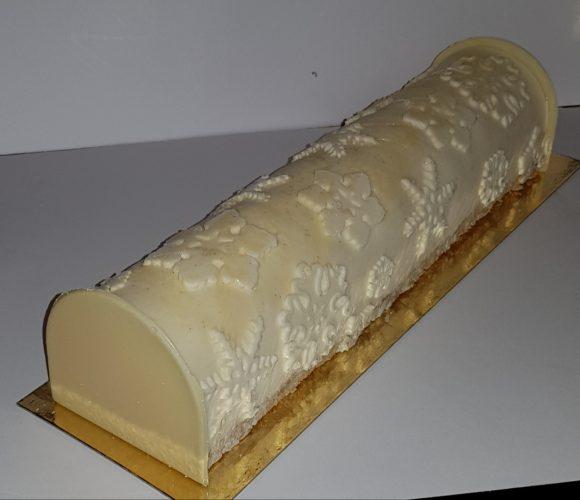 Bûche vanille insert clémentine