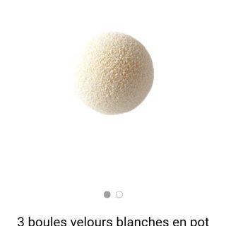 J'ai testé pour vous les 3 boules velours blanches