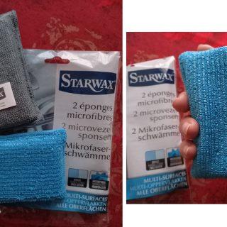 J'ai testé pour vous lot d'éponges microfibre STARWAX
