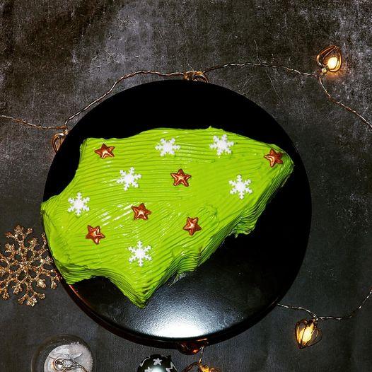 Sapin de Noël à la ganache montée chocolat menthe