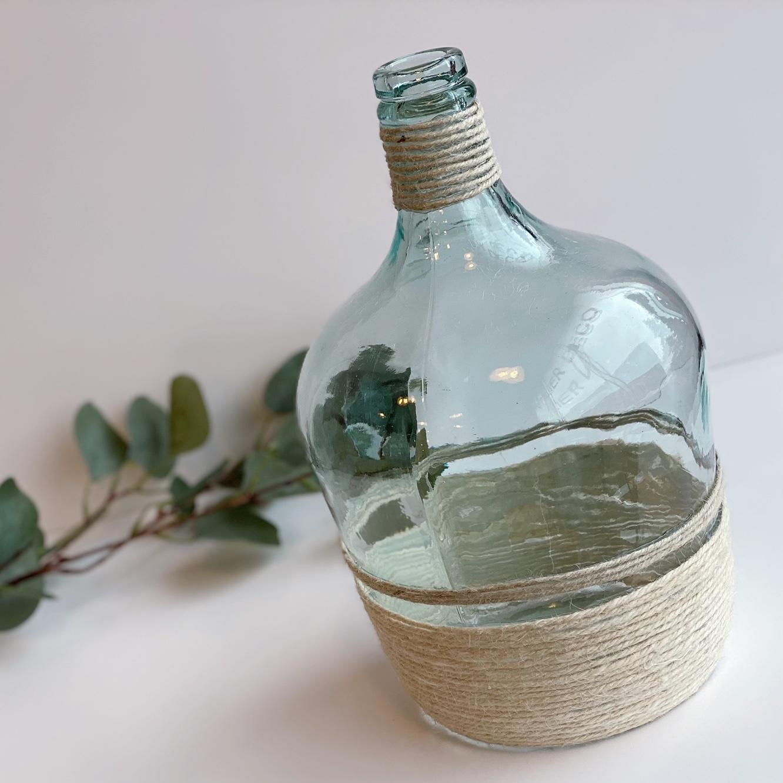 Mon joli vase recyclé customisée avec de la corde !