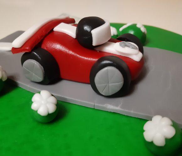 Circuit voiture tout en pâte à sucre 🚗 Formule 1