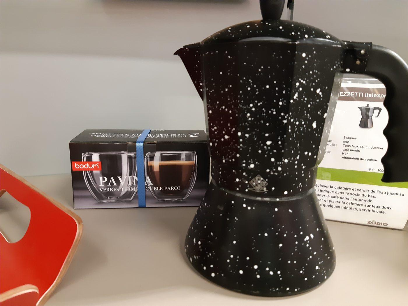 J'ai testé pour vous ma cafetière italienne avec les tasses double paroi