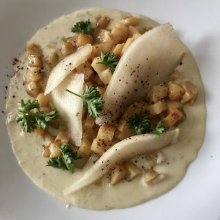 Risotto de céleri au gorgonzola
