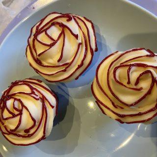 Cupcakes fleurs pour la saint valentin