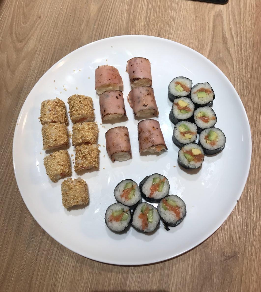 Sushi concombre, Sat Moret, saumon