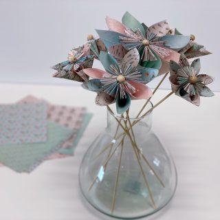 Mon bouquet en fleurs d'origami DIY