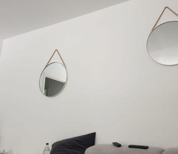 Miroirs ronds avec cordes