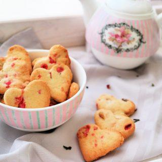 Sablés aux pralines roses vegan