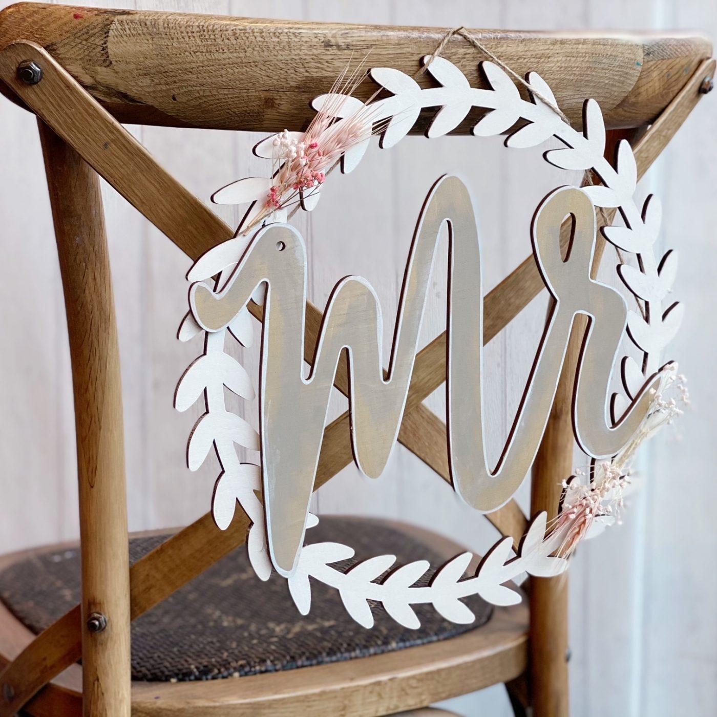 Customisation de déco dos de chaises pour mariage !