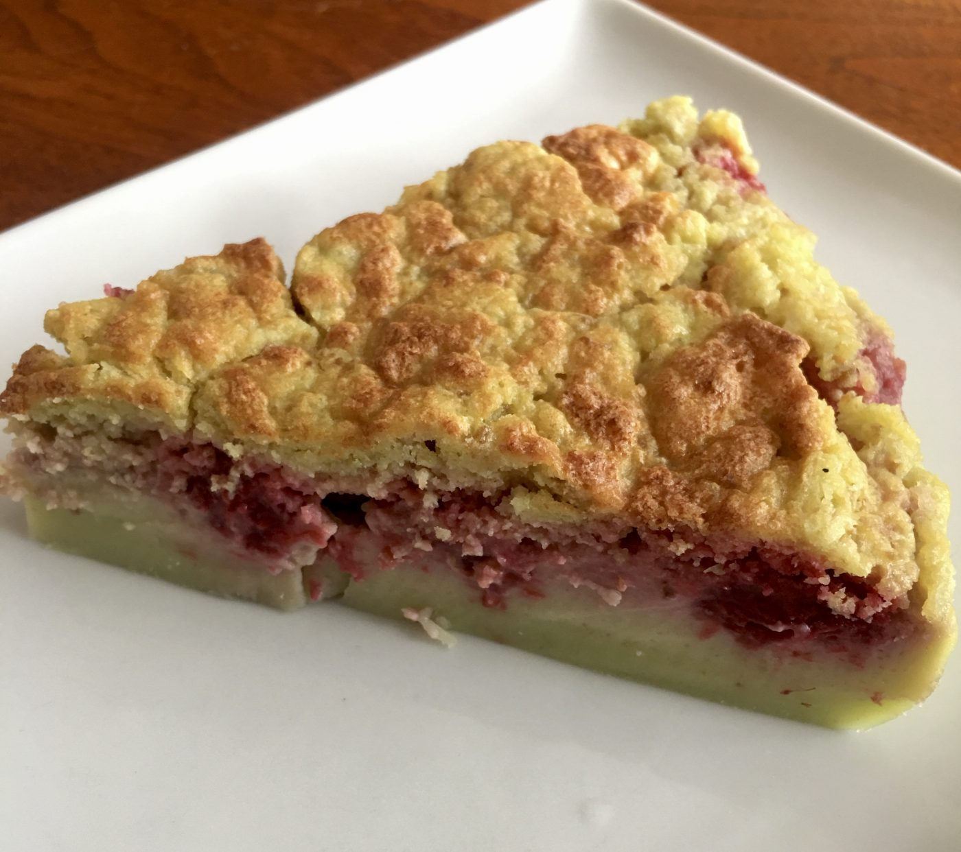 Gâteau magique framboises-pistaches