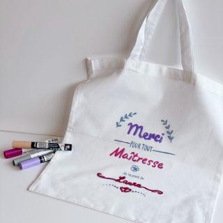 Mon tote bag customisé pour la maîtresse DIY