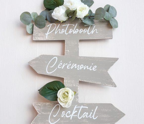 Panneau directionnel de mariage
