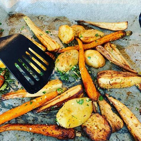 Légumes rôtis ainciens  au four