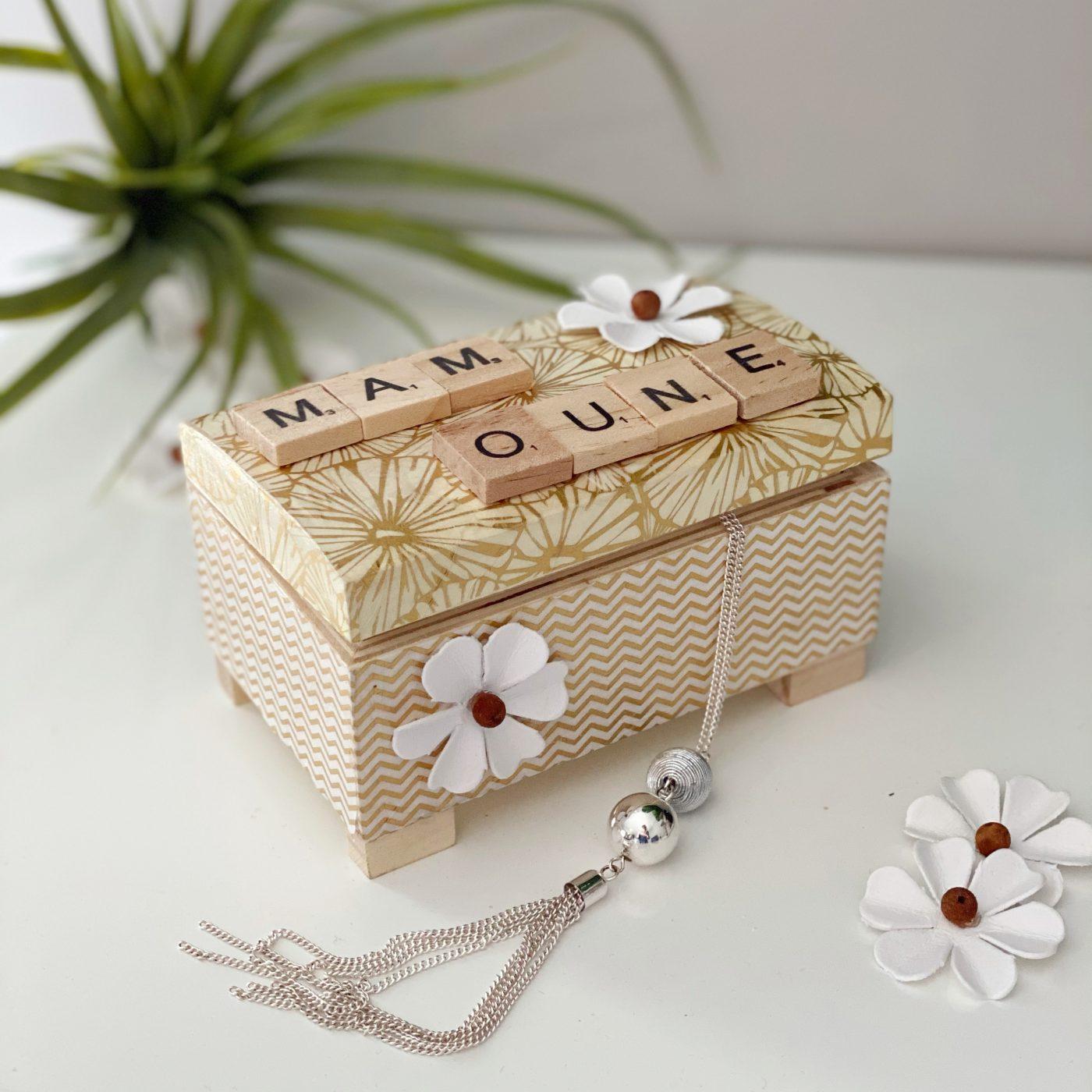 Ma boîte à bijoux pour la fête des mères DIY