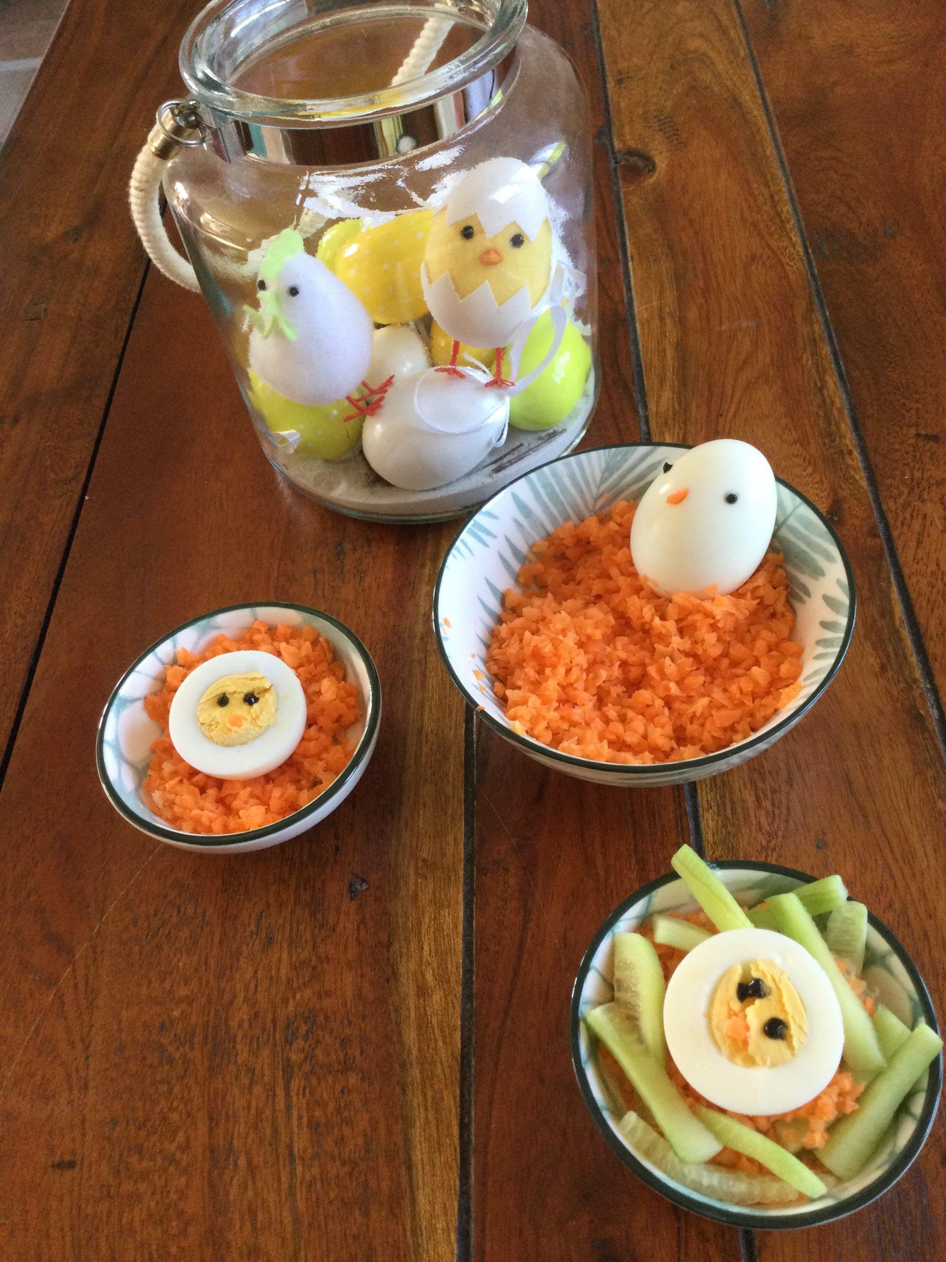 Petite entrée œufs durs de Pâques