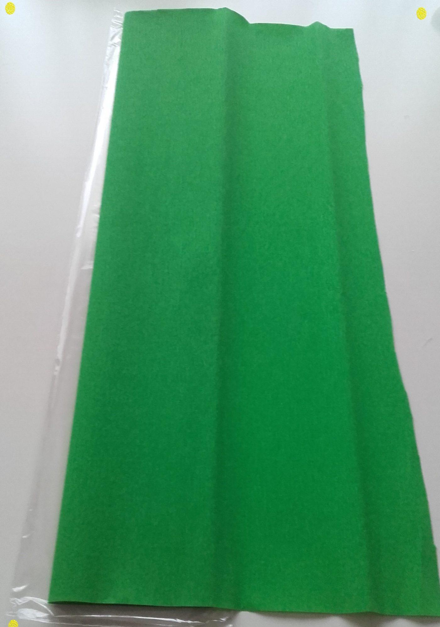 J'ai testé pour vous papier crépon vert Clairefontaine