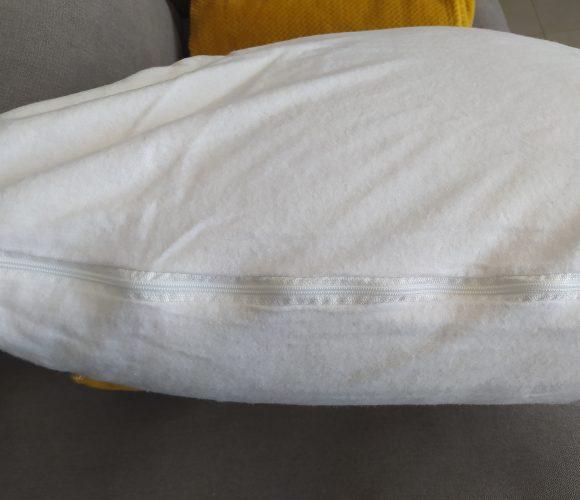 J'ai testé pour vous protège oreiller en molleton absorbant zippé
