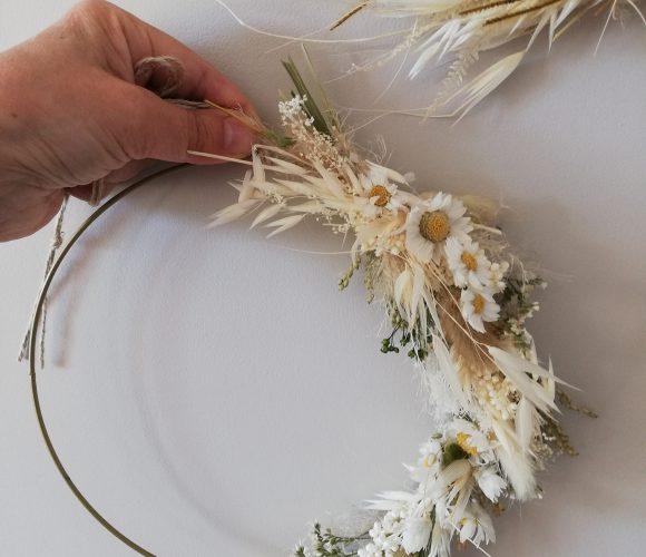 Anneau de fleur séchées