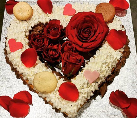 Heart cake chocolat