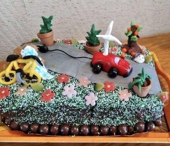 Gâteau vert (chocolat-café)