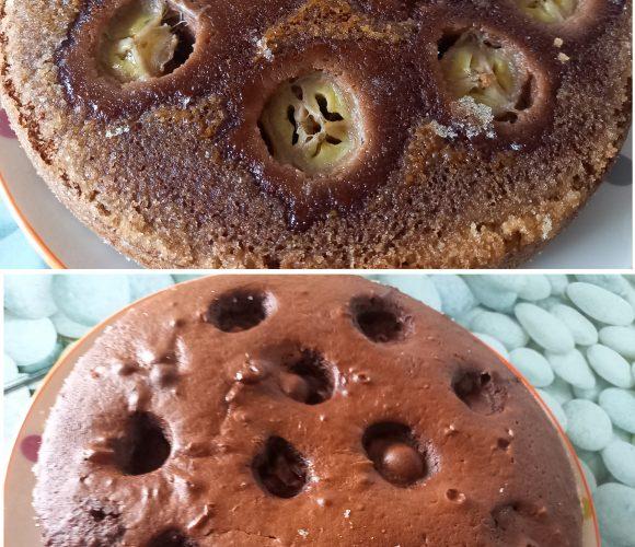 Gâteau renversé banane chocolat 🍌👍