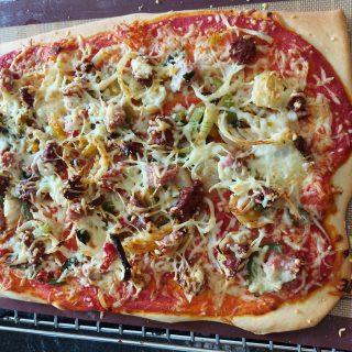 Pizza méridionale qui sent bon les vacances ⛵😎