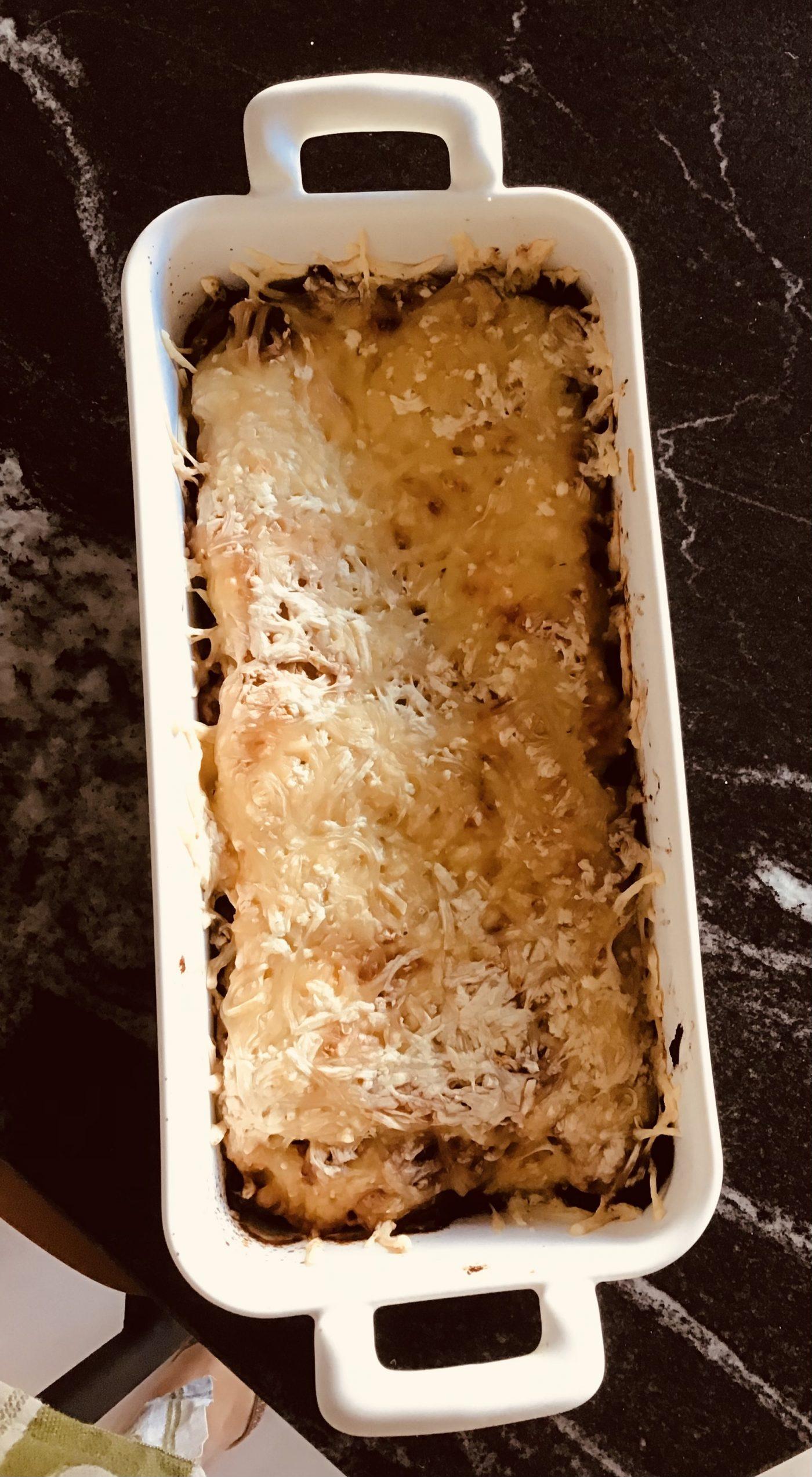 Lasagnes version assez diététique