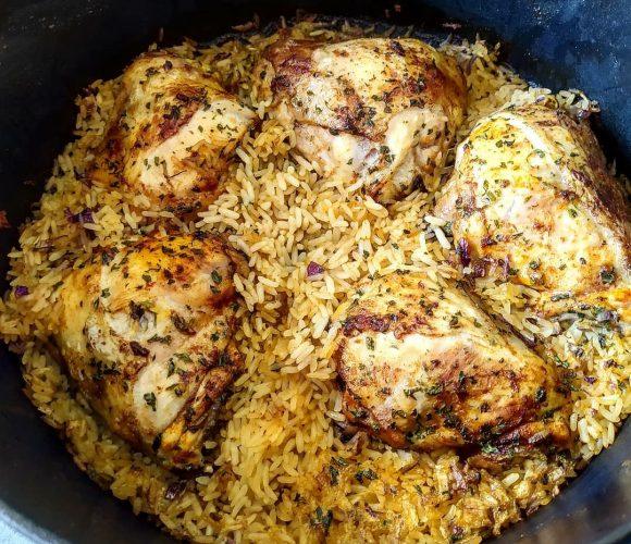 Poulet paprika riz