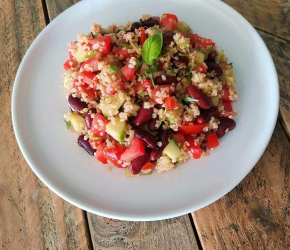 Salade haricots rouge