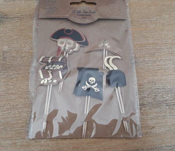 J'ai testé pour vous les 10 pics Pirate avec dorure or 9cm