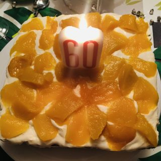 Gâteau au fromage et aux mangues