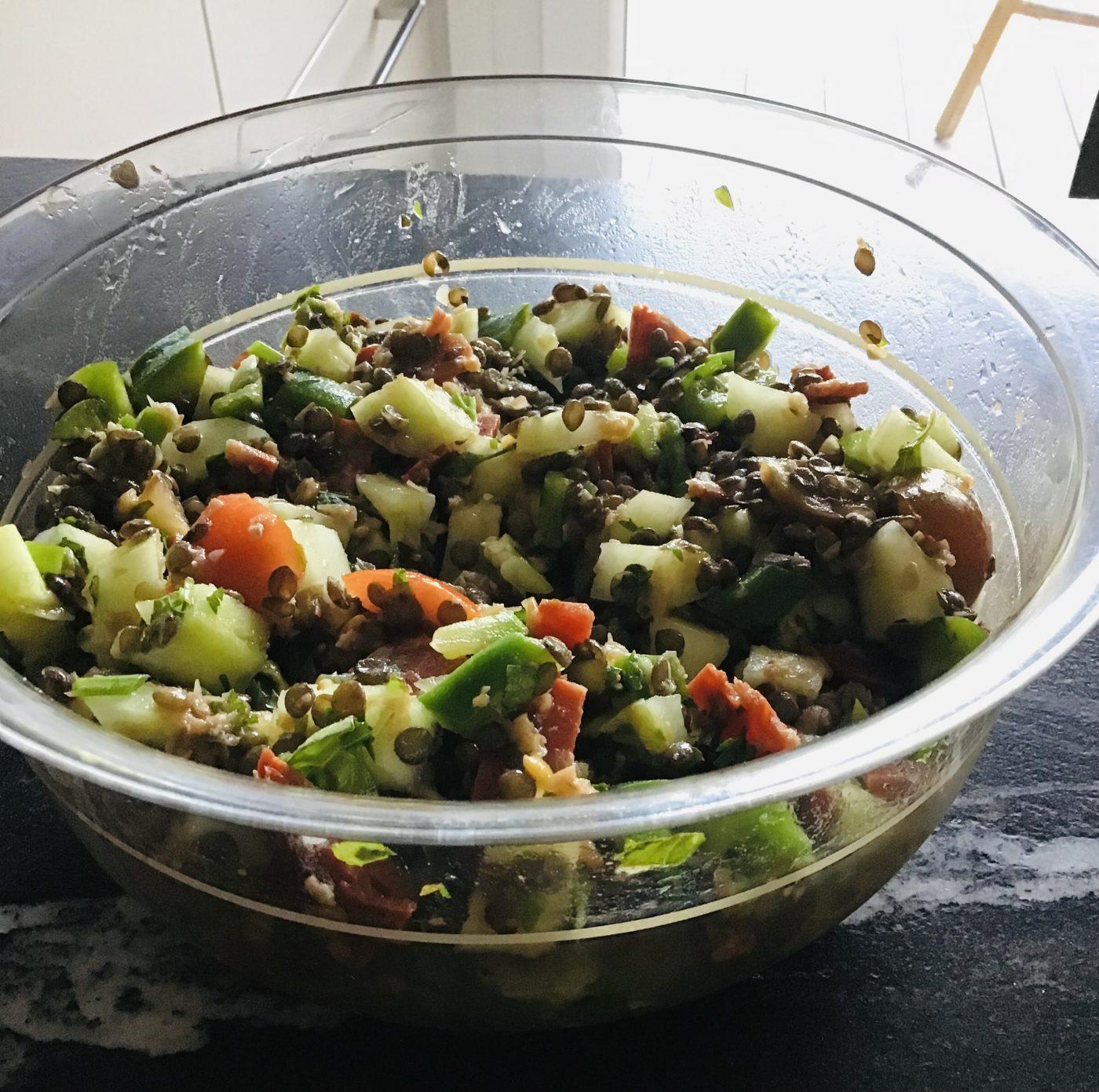 Salade de lentilles fraîcheur
