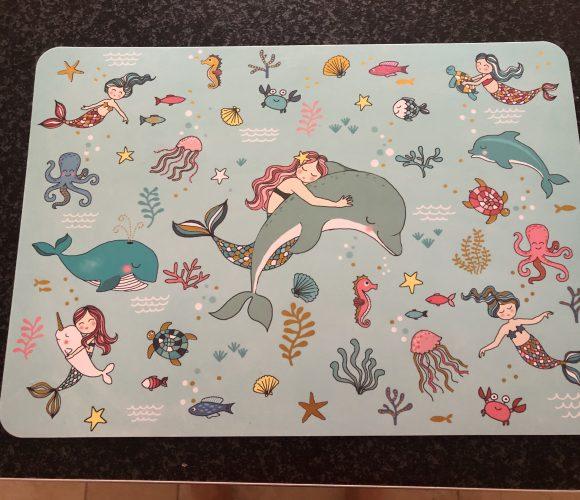 Set de table sirène et dauphin