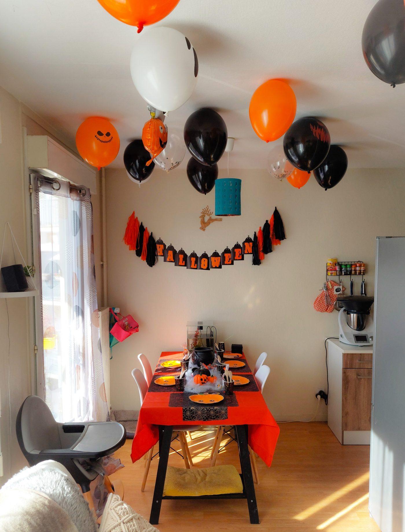 Un bel anniversaire sur le thème d'Halloween