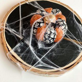 Déco Halloween DIY : ma citrouille decopatch