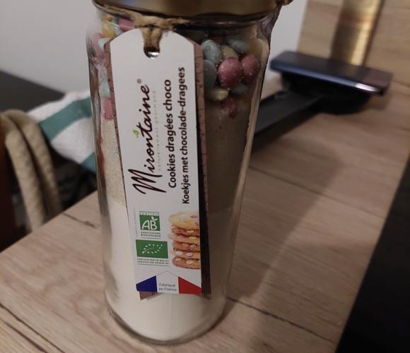 J'ai testé pour vous bocal en verre Cookies dragées chocolat 375g