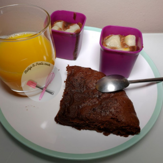 MINIS POIRE CHOCOLAT et GÂTEAU AU CHOCOLAT