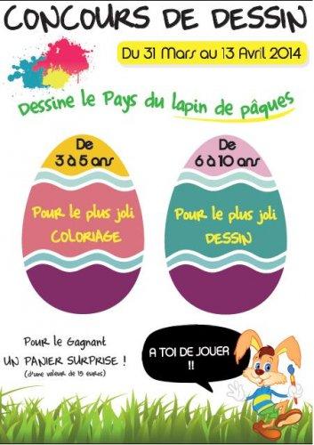 Concours de dessin «Au pays du lapin de Pâques»