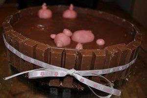 Gâteau cochons dans la boue