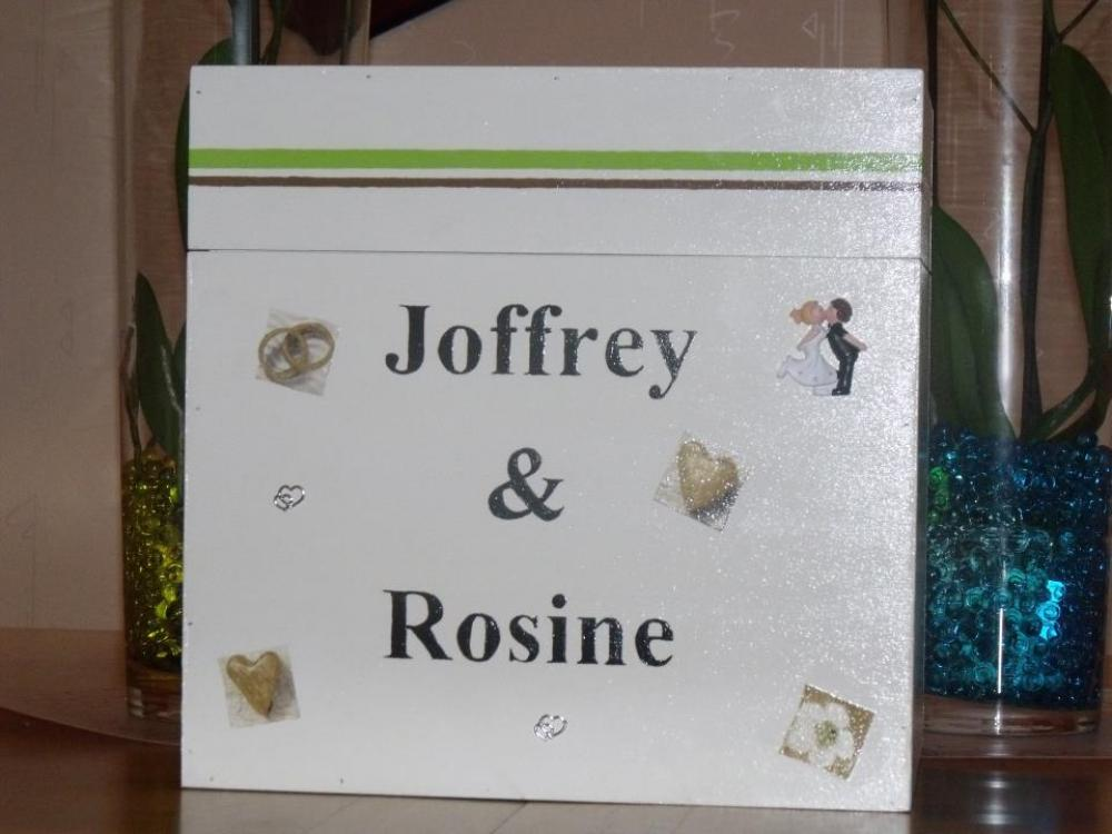 L'urne de mariage de mon frère et de ma belle soeur