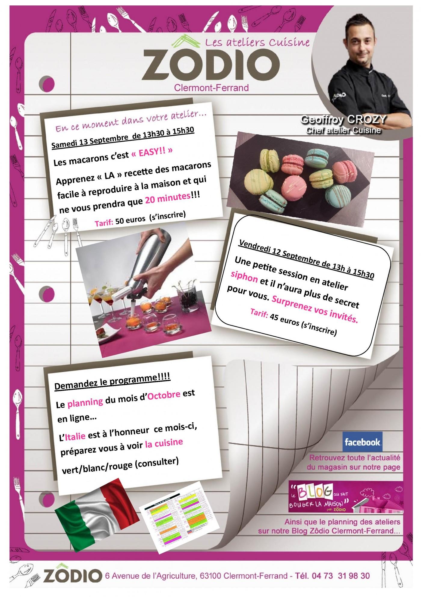 Planning Du Mois D Octobre En Ligne Et Idees D Ateliers Cuisine
