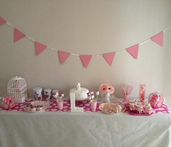 Une sweet table toute en douceur pour les 4 ans de ma fille