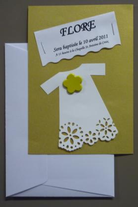 Faire-part de baptême: Idées de cartes de baptême à réaliser soi-même !!