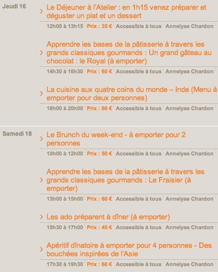 Atelier cuisine d 39 annelyse chardon les 16 18 mai 2013 - Cours de cuisine caen ...