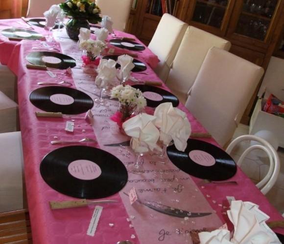 Déco de table 60 ans de mariage